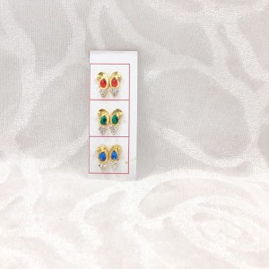 Golden Diamond Kundal, Set of 3