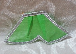 Chakdar With Silver Lace, Green