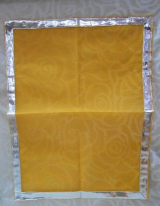 Large Size Doriya Pichhwai - 03, Orange