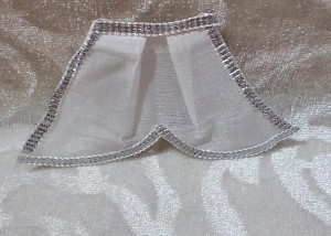 Chakdar With Silver Lace, White