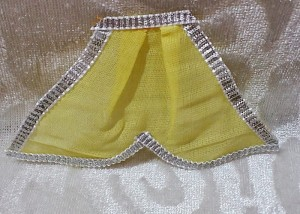 Chakdar With Silver Lace, Yellow
